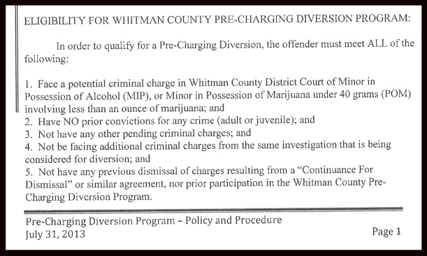 Whitman County Diversion Program